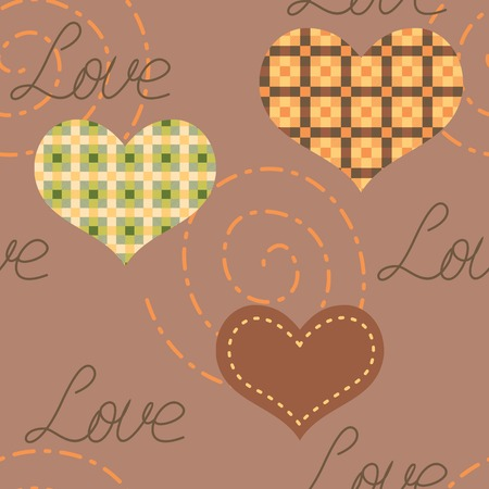 Romantic seamless texture with hearts. EPS 8.