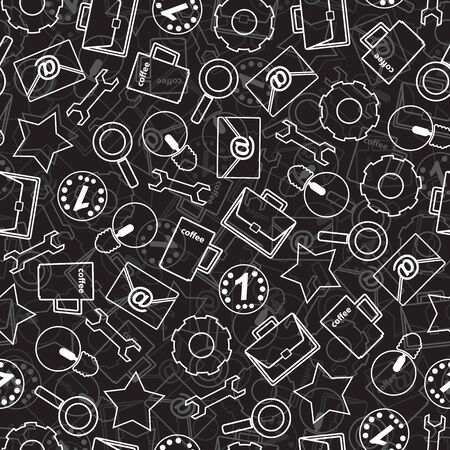 Seamless texture with abstract pattern on business. Seamless texture in a flat design with a pattern of icons.