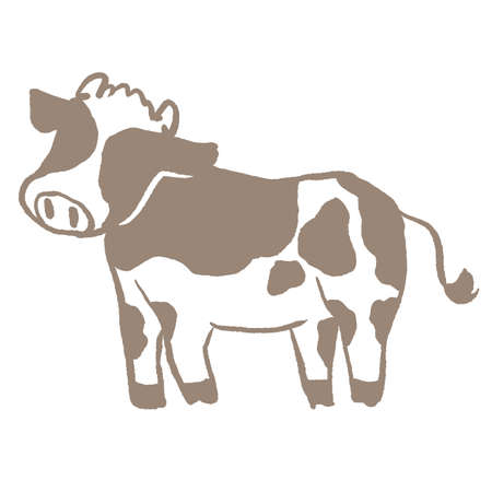 A simple illustration of Holstein beef