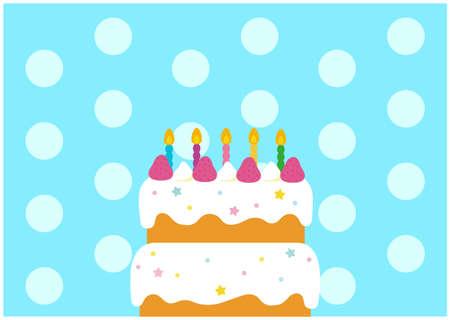 Pop Birthday Cake Illustration