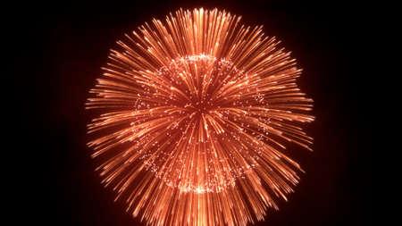 Fireworks blast in sky, firework background, 3D render