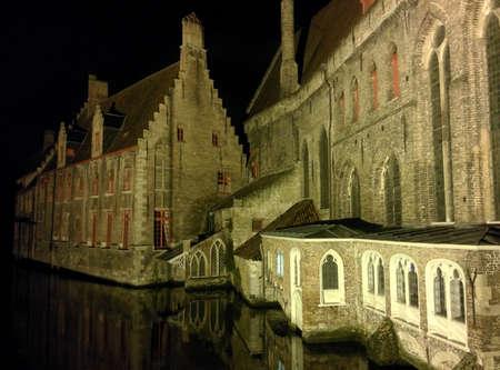 bruges: Houses alongside water, Bruges, Belgium