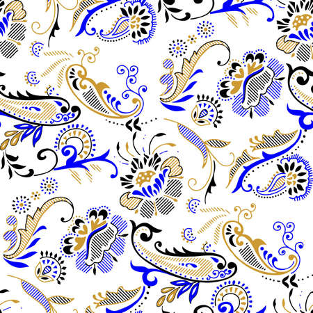 Paisley pattern with color background 向量圖像