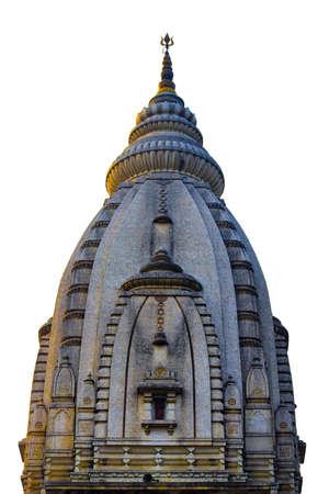 Varanasi Kashi Vishwanath Temple. top of the building. a beautiful capute in the camera