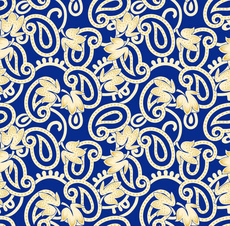 Colorful Paisley pattern for textile, cover, wrapping paper, web. Ethnic wallpaper with decorative elements. Indian decorative backdrop. Vector indonesian batik