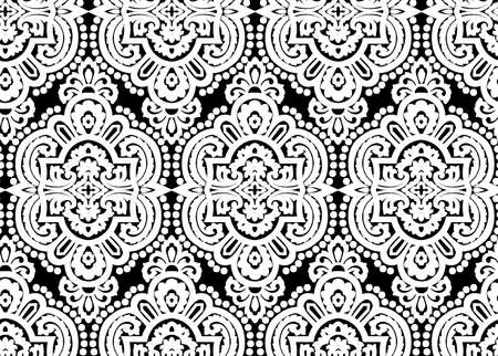 Renaissance Period Inspired Square Ornament Background Pattern. one color background.