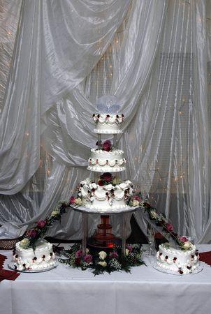 table: Wedding cake table