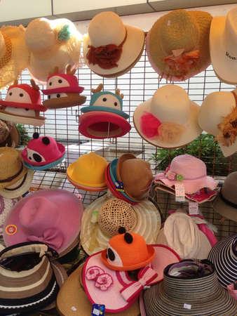 colour: Hats galore Stock Photo