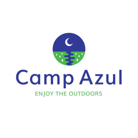 Moon Sky Camp Outdoors Recreation Logo Illustration