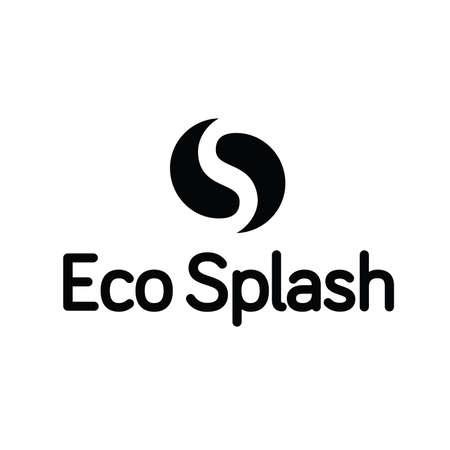 Eco Water Splash goccia Ying Yang Logo Archivio Fotografico - 65286895