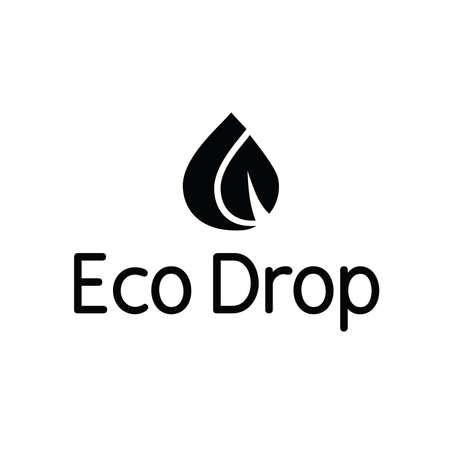 Eco acqua goccia spruzzata Foglia Logo Archivio Fotografico - 65286897