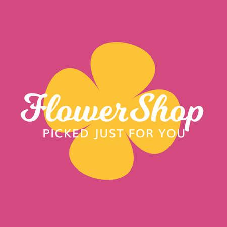 Flower Shop Gift Spa Salon Florist Logo 向量圖像