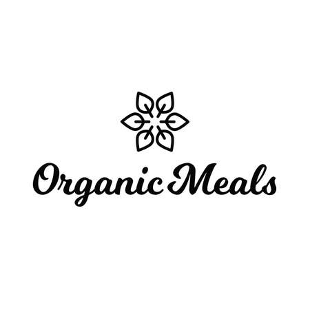 Organic Meals Healthy Food Logo Фото со стока - 68691542