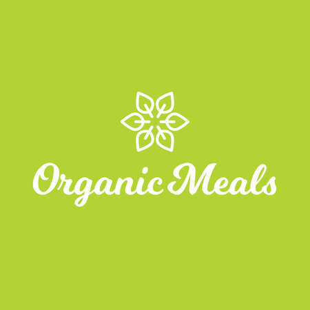 Organic Meals Healthy Food Logo