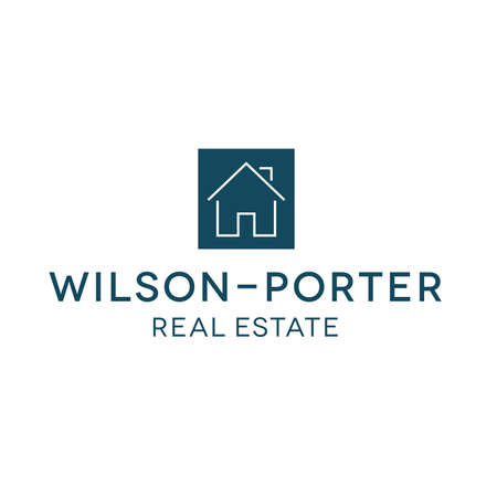 house logo: Real Estate Services Realty House Logo Illustration