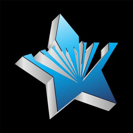 blue star: 3D blue star
