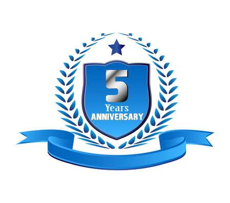 5 years Anniversary Illusztráció