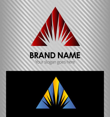 Abstract triangle logo Vector