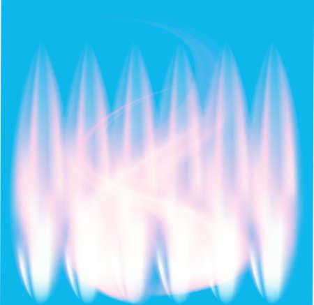 fuoco e fiamme: Blue Fire Flames vettore