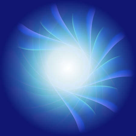 radial background: Blue radial background, blue and white light Illustration