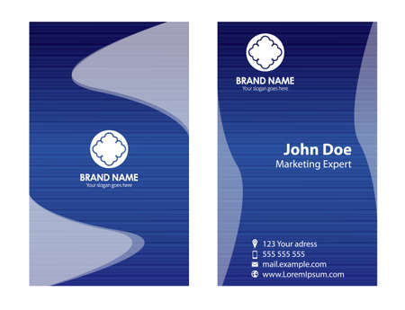 blue stripe: Blue stripe business card