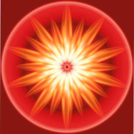 laser radiation: Burst red and orange fire background