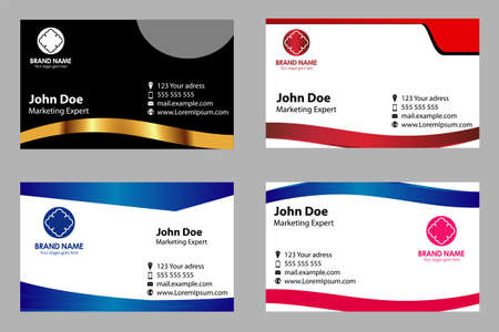 Business card templates set royalty free cliparts vectors and business card templates set stock vector 35016136 reheart Choice Image