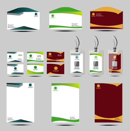 Business style templates Vector
