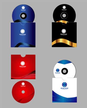 Cd, DVD cover design template Vector