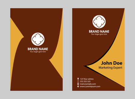 Set of 12 professional and designer horizontal business cards 35016675 creative business card set or visiting card set colourmoves