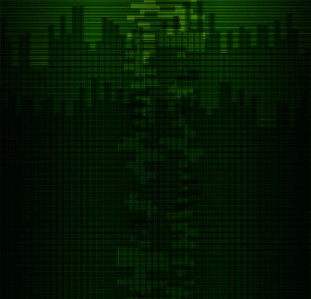 green grid: Dark Green grid background