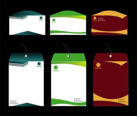 Envelope template design Vector