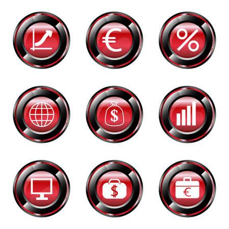 e auction: Finance icons set Illustration