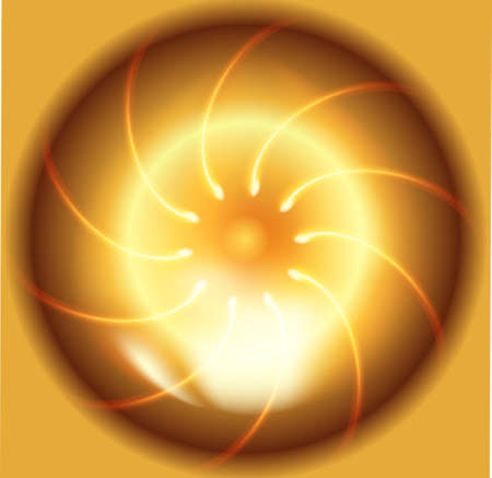 fire circle: Fire circle gold background vector