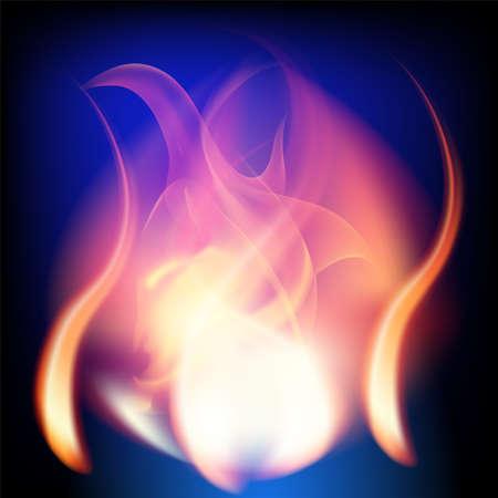 fireside: Fire Flames dark blue Background