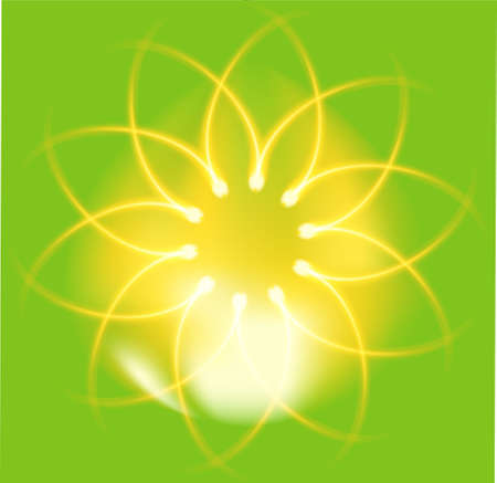 ire: ire Flower on green background Illustration
