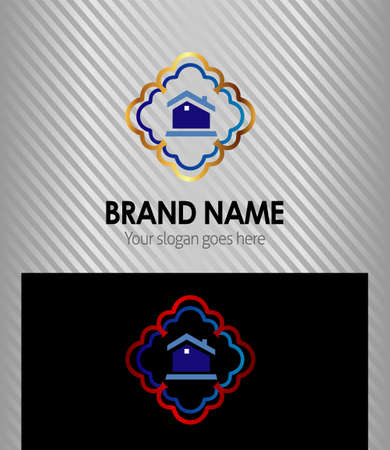 casa logo: Casa logo Vettoriali