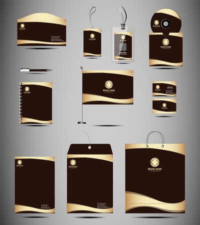 Identity Kit stationery element Vector