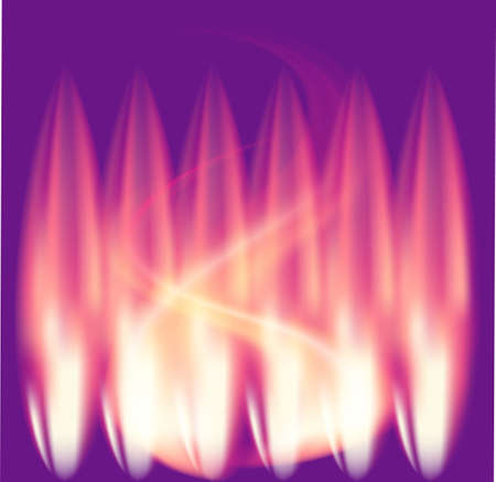 Purple background Fire Flames vector Vector