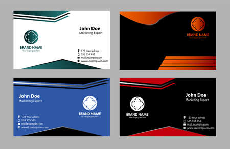 tor four business card set , elements for design Vector