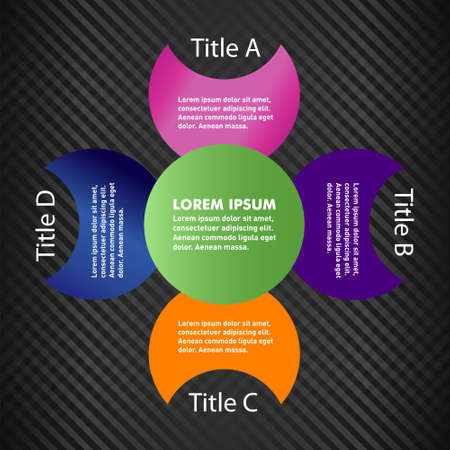 looping: Vector illustration of four part looping steps infographic element Illustration