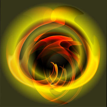 stock photograph: Flames of Fire green background vector