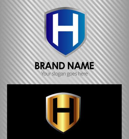 sign h: Letter H logo icon design symbol