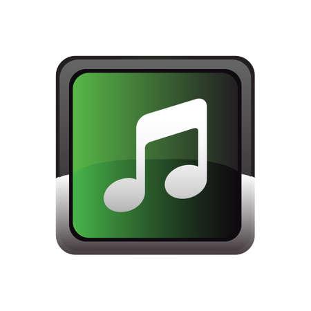 Music button icon vector Vector