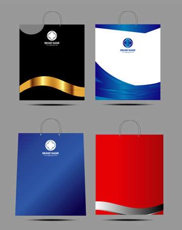 Paper bag design template Vector