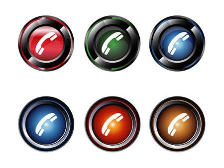 phone button: Phone button set