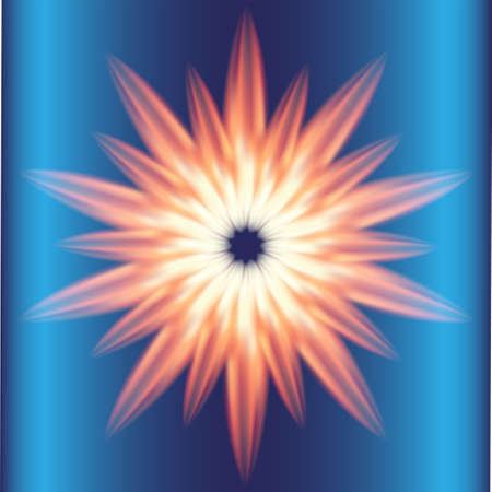 emanation: Ray Burst fire circle blue background