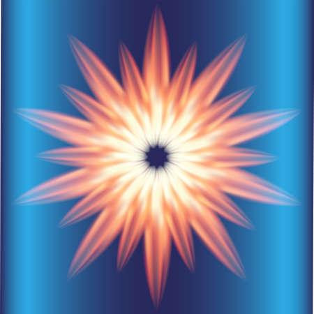 fire circle: Ray Burst fire circle blue background