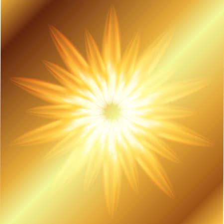 emanation: Ray Burst fire golden background