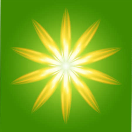 Ray circle Burst on green Background Vector